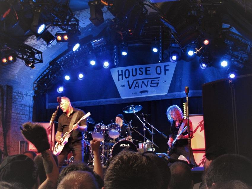Metallica lanza su recordado show en House of Vans de Londres