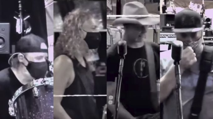 Rockaxis   Usando mascarillas: Metallica volvió a los ensayos y ...