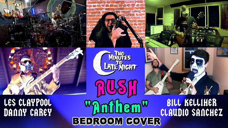 Video: Miembros de Tool, Mastodon, Primus y Coheed and Cambria versionan a Rush