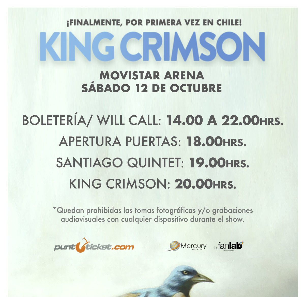 King Crimson en Chile: horarios, recomendaciones e información general
