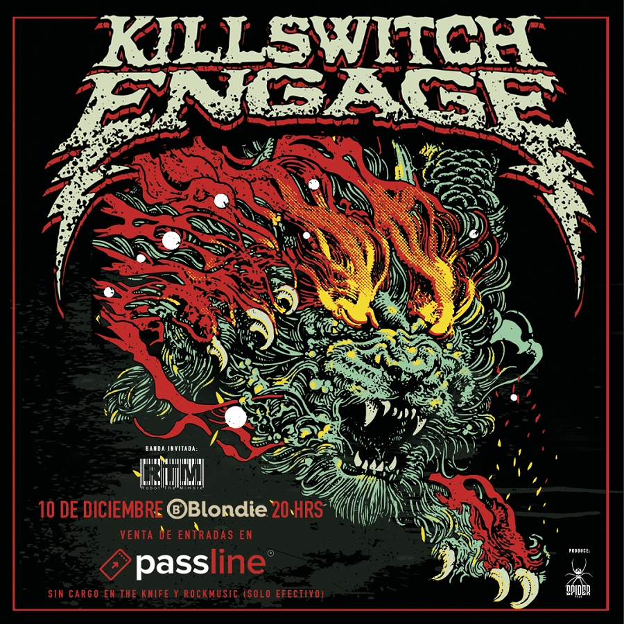 Robot the Mimbre se suma al concierto de Killswitch Engage en Chile