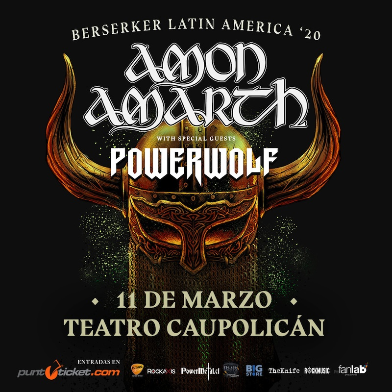 Amon Amarth y Powerwolf en Chile