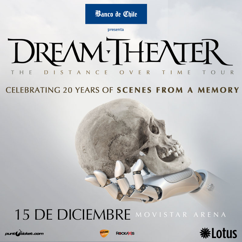 Ganadores de entradas al regreso de Dream Theater a Chile