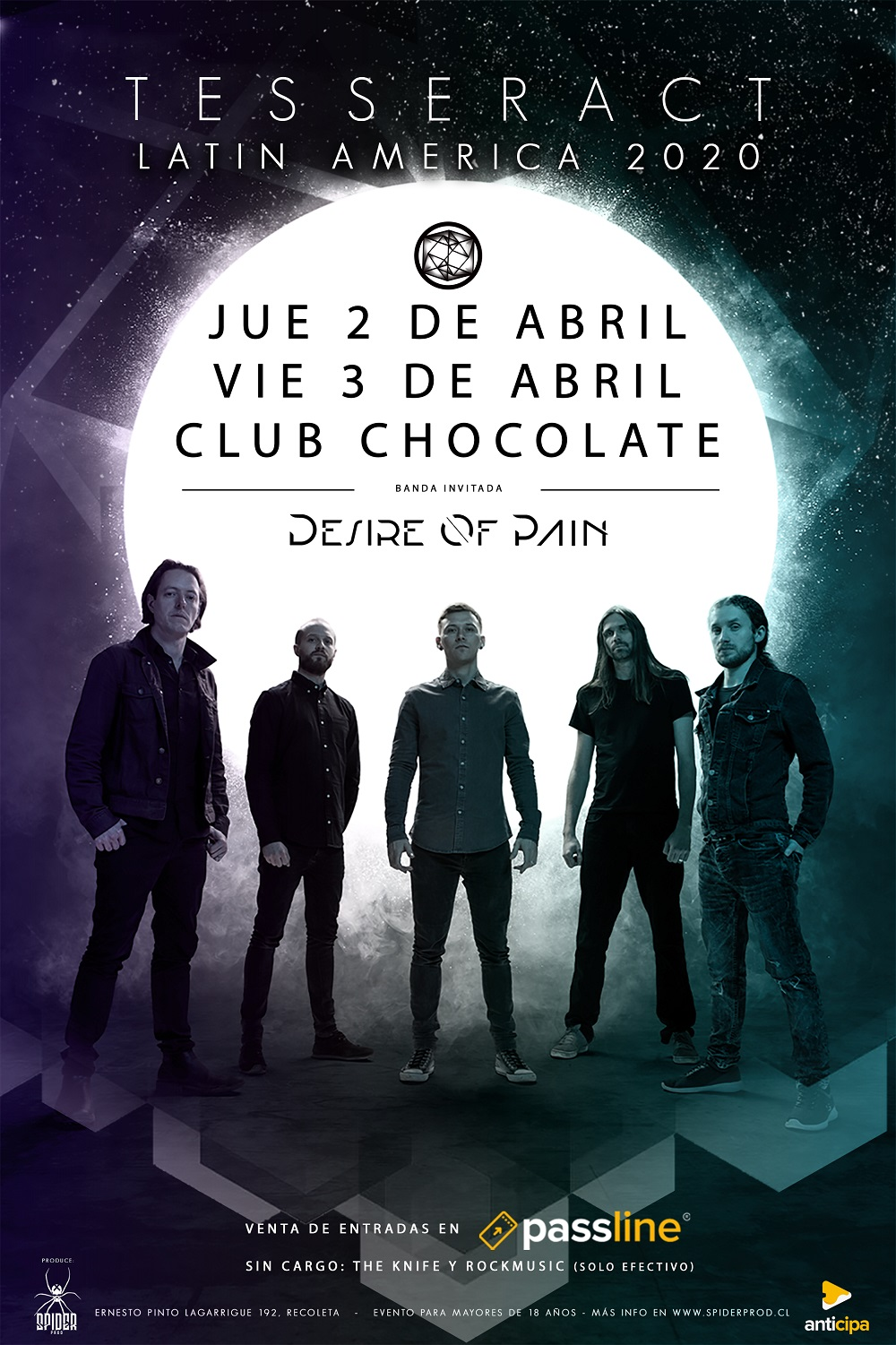 Desire of Pain es la banda invitada a los shows de TesseracT en Chile