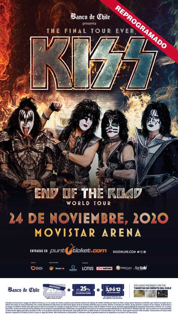 KISS reagenda toda su gira latinoamericana